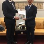 Con il direttore del museo nazionale di Taiwan